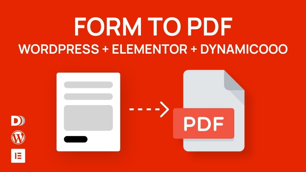 How to make a PDF from Elementor form with Dynamicooo