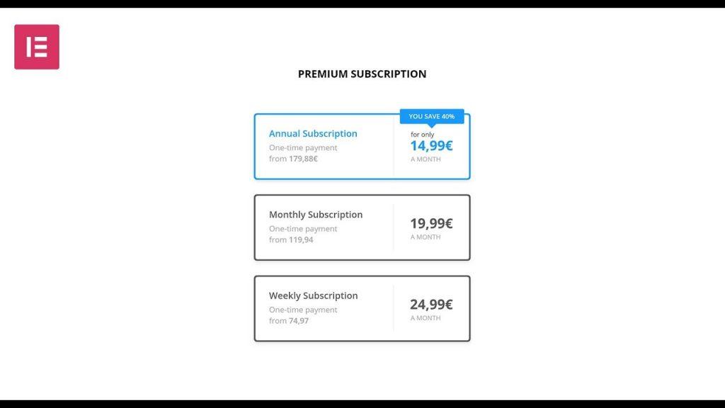 Elementor Tutorial Subscription Widget