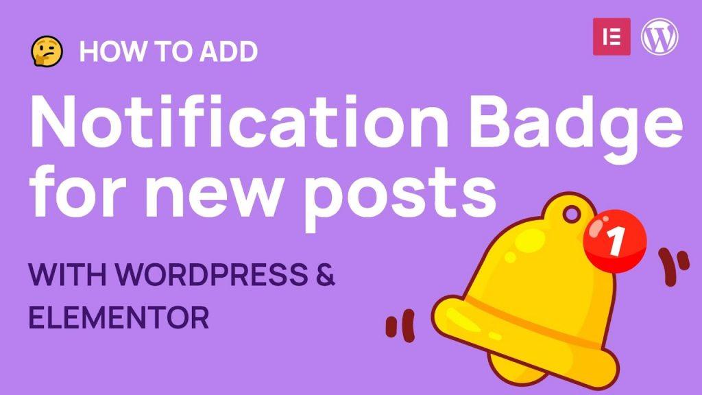 How to make menu notification badge with news sidebar in WordPress
