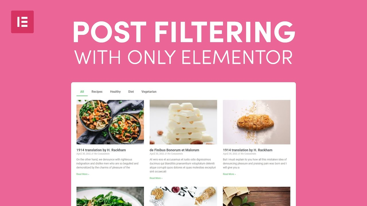 How to make post category filter for your blog page with Elementor and Wordpress