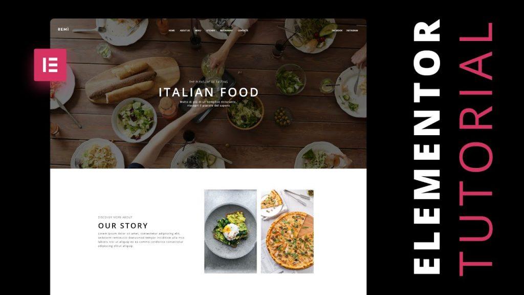 Elementor Tutorial: Make a Restaurant Website