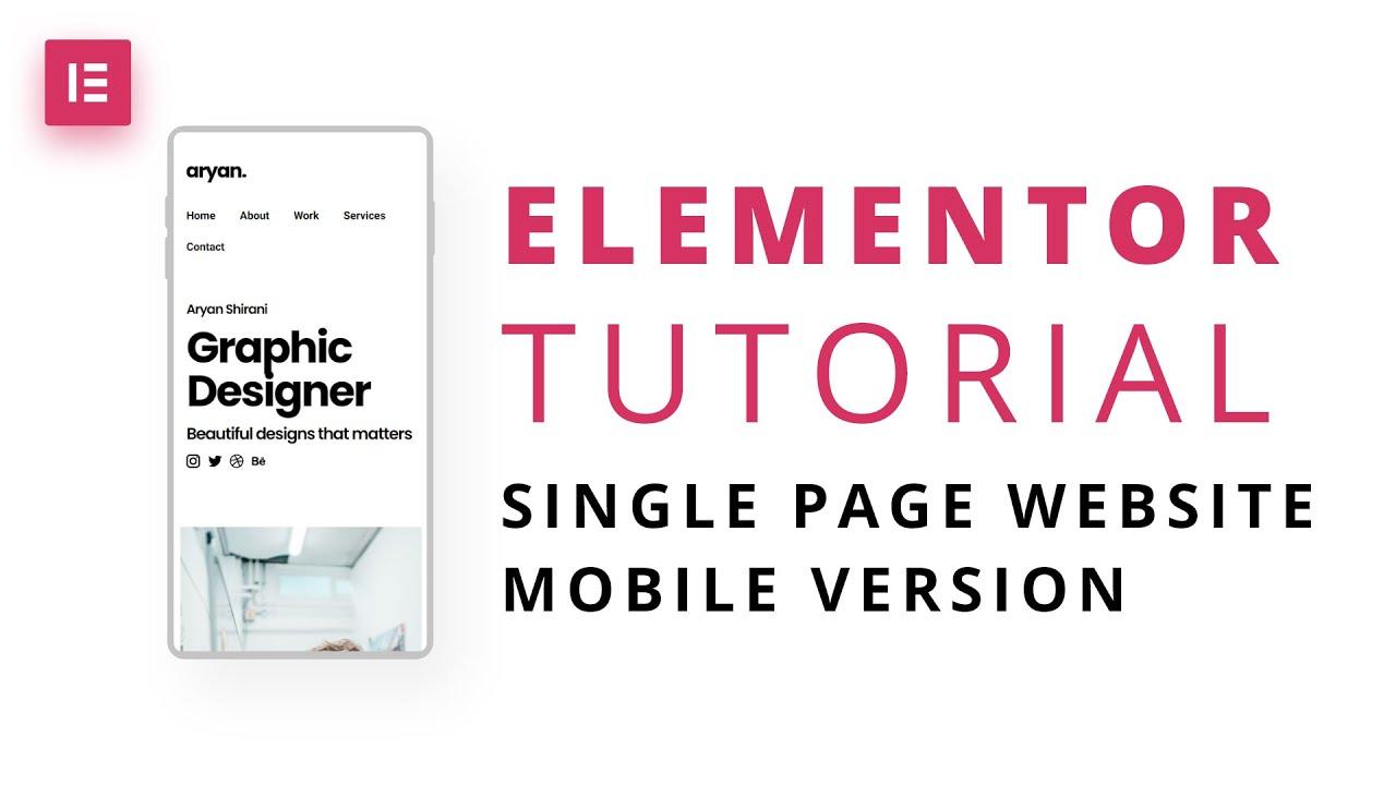 Elementor Tutorial: Make a website mobile friendly