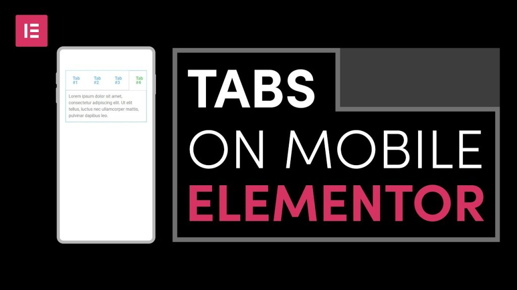 How to make horizontal Tabs on mobile version with Elementor