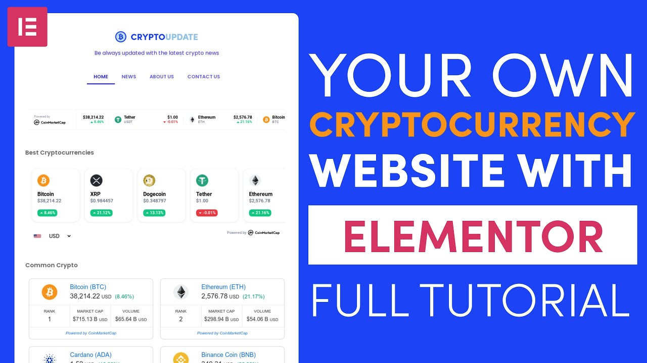 How to Create a Cryptocurrency Website with WordPress and Elementor Full Tutorial