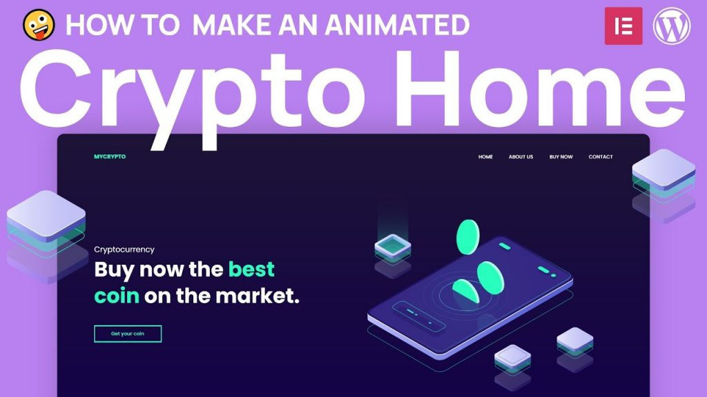 How to make a Cryptocurrency Homepage with animation